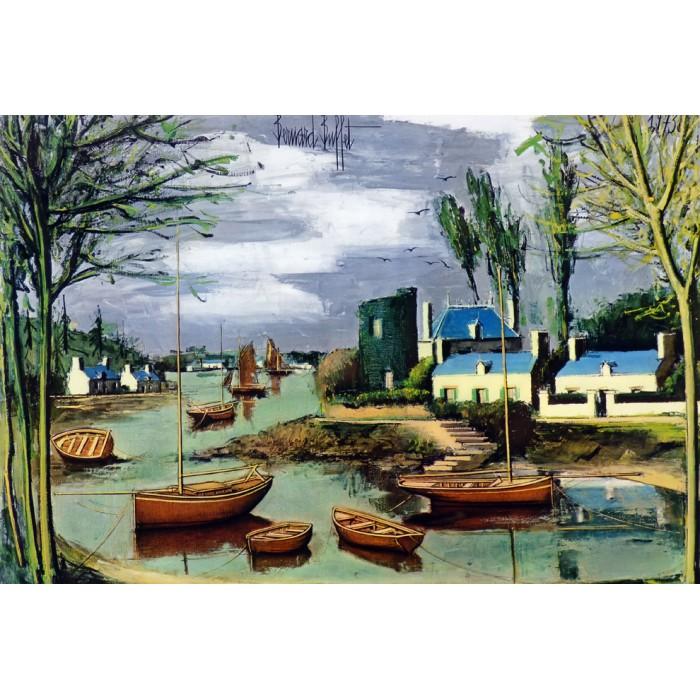 Bernard Buffet - Le port 1973