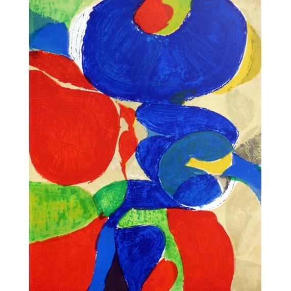 Gustav Bolin - Lithographie originale - Composition