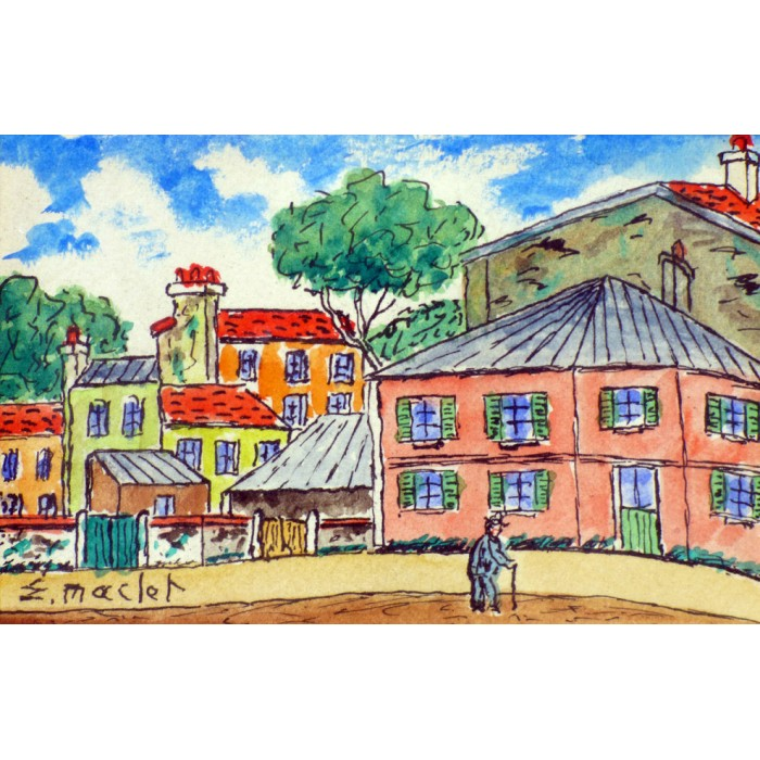 Maclet - The little pink house in the village