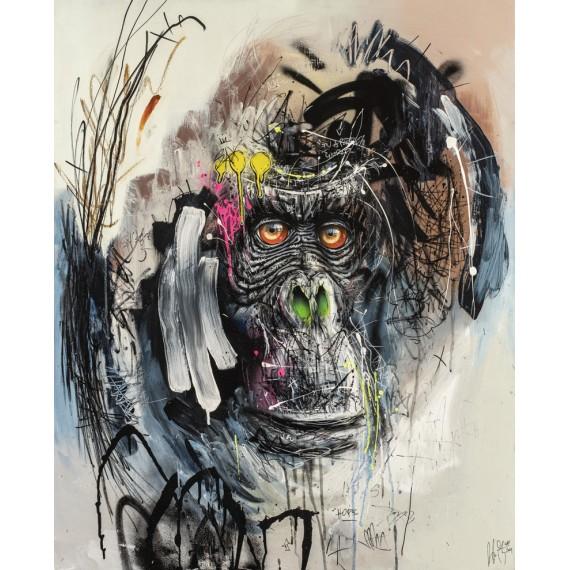 Sax - Peinture originale - Urban Gorilla III
