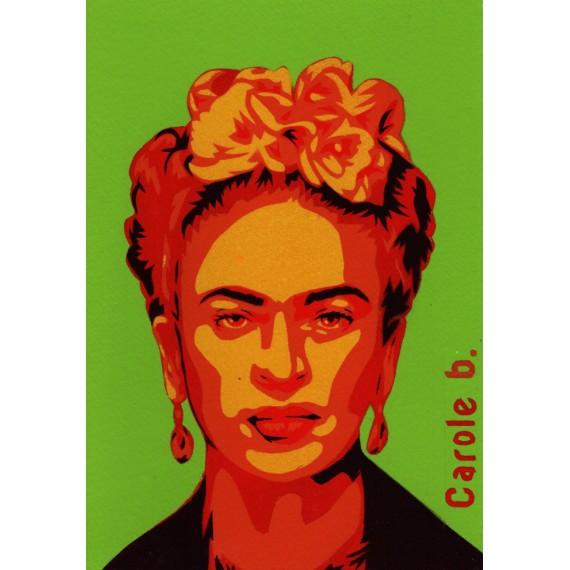 Frida! Unique stencil - Magdalena Frida Carmen Kahlo Calderón or Frida Kahlo
