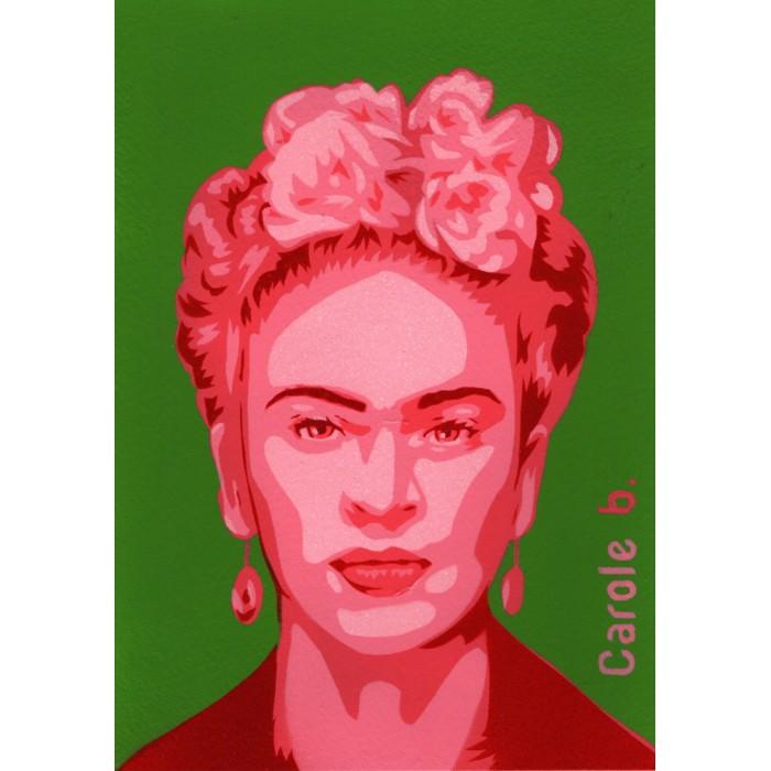 Frida ! Pochoir unique - Magdalena Frida Carmen Kahlo Calderón ou Frida Kahlo