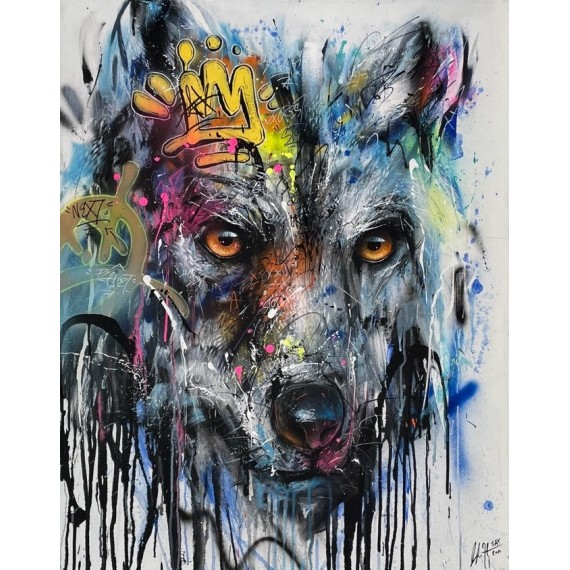Sax - Painting - Urban Wolf
