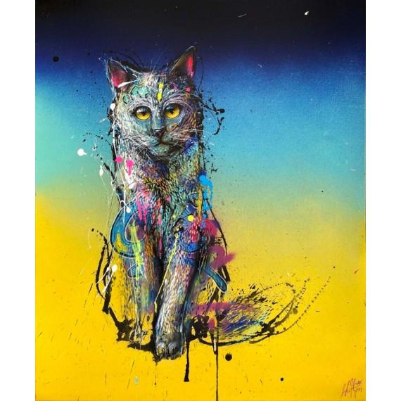 Sax - Painting - Urban Cat