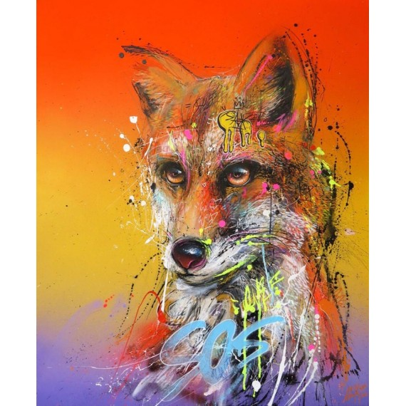 Sax - Painting - Urban Fox