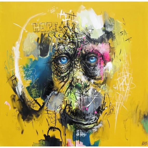Sax - Painting - Urban Orangutan