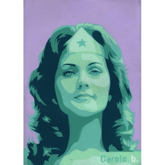 Wonder Woman ! Unique stencil - ( Lynda Carter ) N7