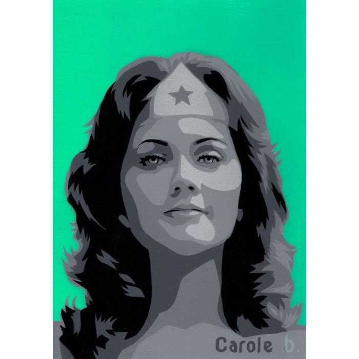 Wonder Woman ! Unique stencil - ( Lynda Carter ) N8