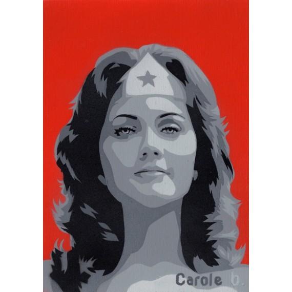 Wonder Woman ! Pochoir unique ( Lynda Carter ) N9