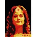 Wonder Woman ! Unique stencil - ( Lynda Carter ) N10