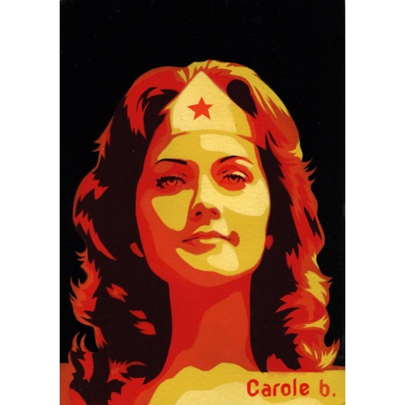 Wonder Woman ! Pochoir unique ( Lynda Carter ) N10