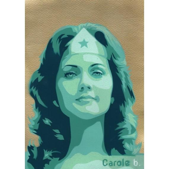 Wonder Woman ! Pochoir unique ( Lynda Carter ) N11