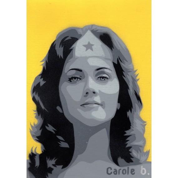 Wonder Woman ! Pochoir unique ( Lynda Carter ) N12