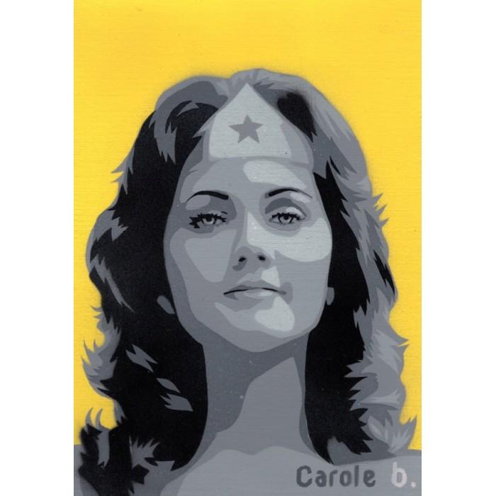 Wonder Woman ! Unique stencil - ( Lynda Carter ) N12