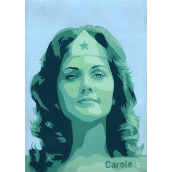 Wonder Woman ! Unique stencil - ( Lynda Carter ) N13