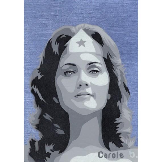 Wonder Woman ! Pochoir unique ( Lynda Carter ) N14