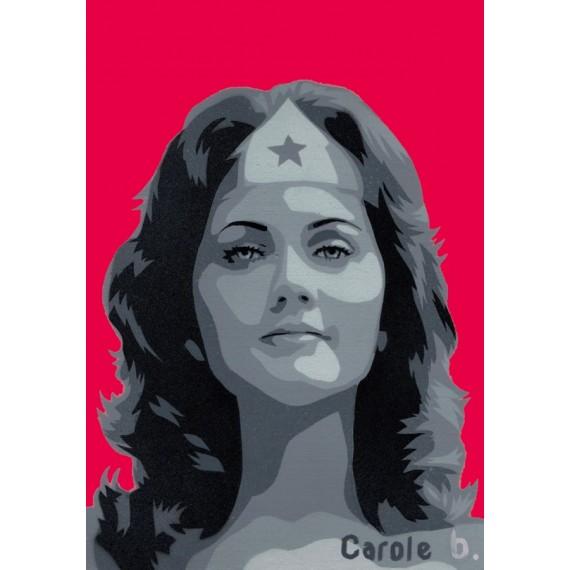 Wonder Woman ! Pochoir unique ( Lynda Carter ) N15