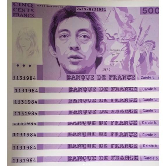 """Carole B.  """" Aux armes, etc """" Serge Gainsbourg - Violet"""