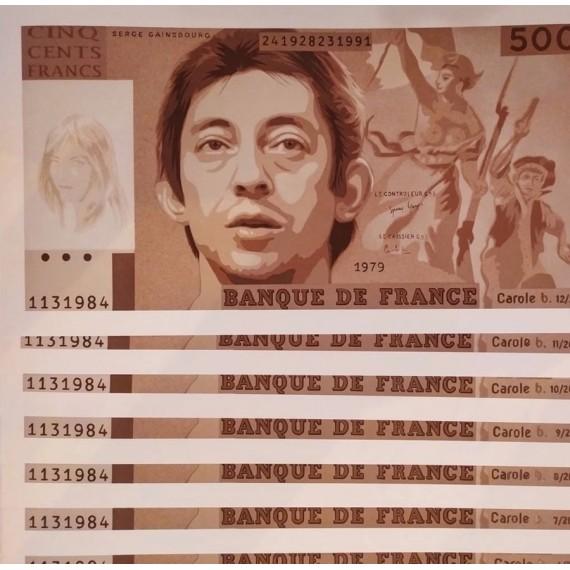 "Carole B.  "" Aux armes, etc "" Serge Gainsbourg - Brown"