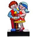 Les amoureux des animaux -pop-art-sculpture-porcelaine-