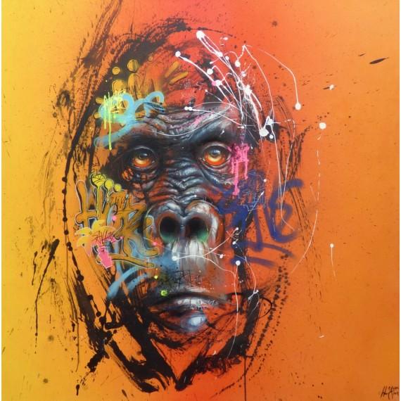 Sax - Peinture - Urban Orangutan