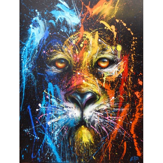 Sax - Peinture - Urban Lion