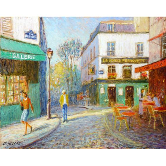 L'entrée du village de Montmartre
