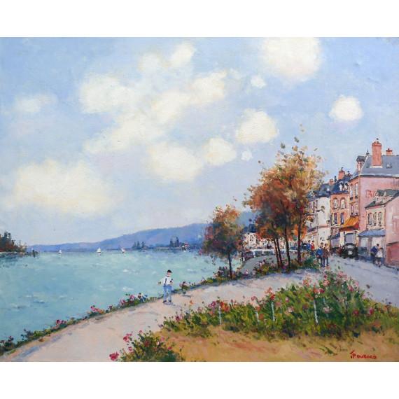 Le Quai et la Seine à Duclair