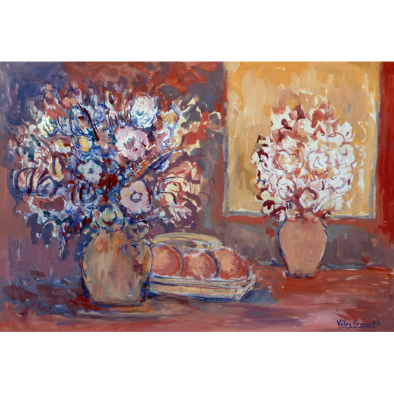 Composition aux deux vases