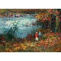 Au bord de l'étang en automne