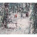 La forêt sous la neige