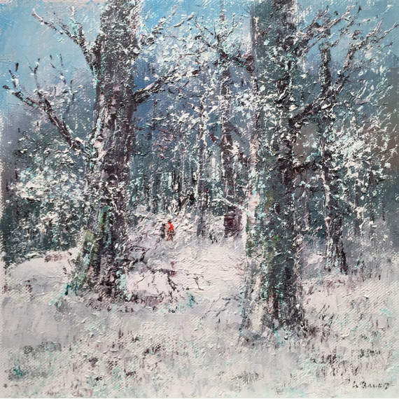 The forest under the snow