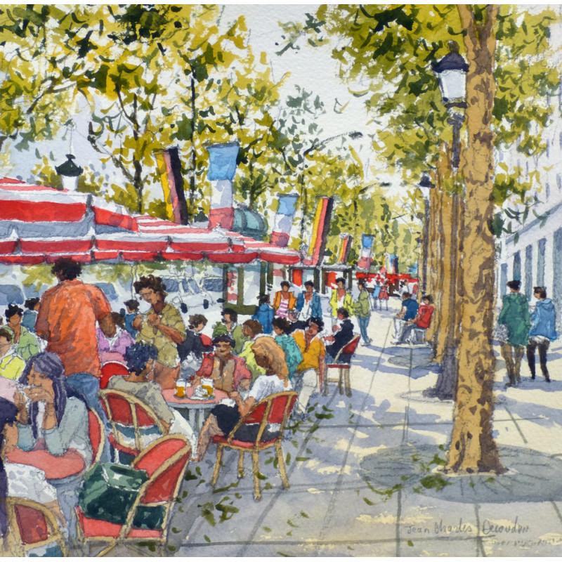 La Terrasse De Café à Paris French Art Collection