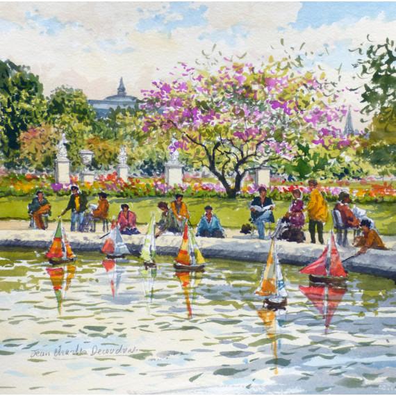 Jeux d'enfants au Jardin du Luxembourg à Paris