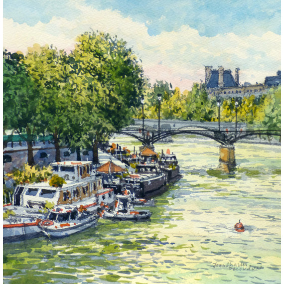 Les péniches sur la Seine à Paris