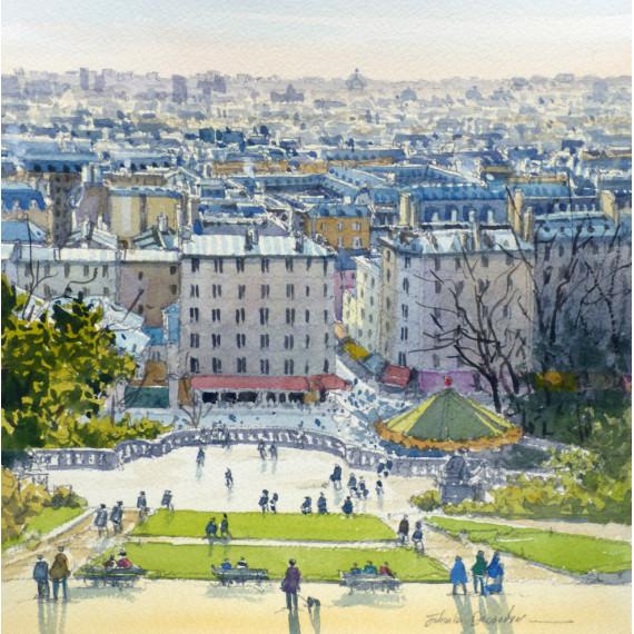 Panorama du Sacré-Coeur à Paris