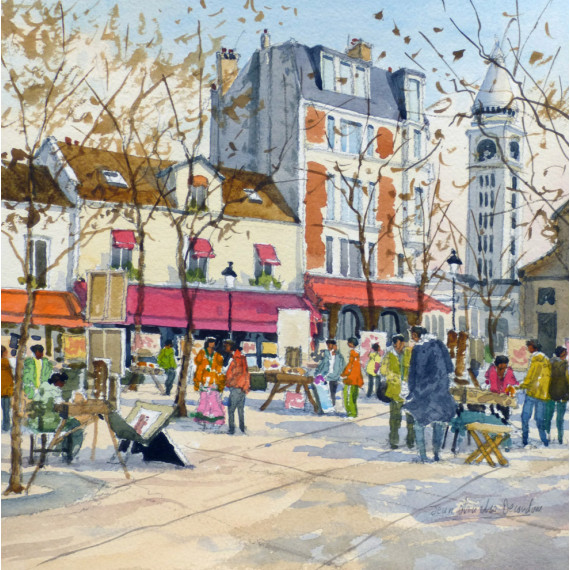 Place du Tertre à Paris