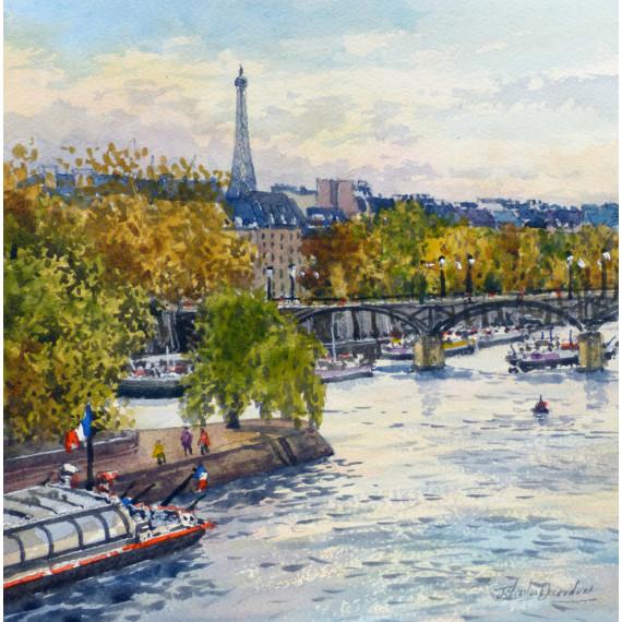 La Seine et la Tour Eiffel à Paris
