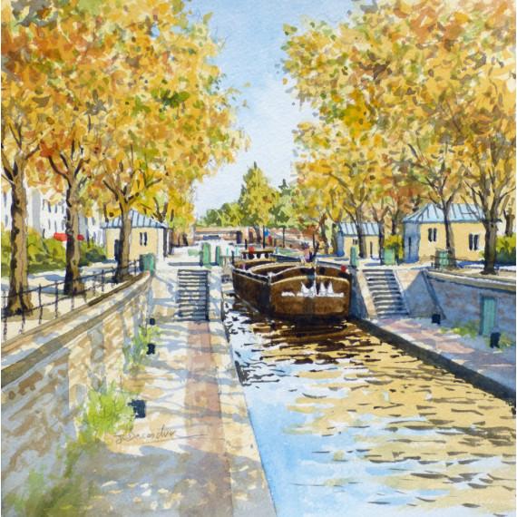 Péniche Canal Saint-Martin à Paris