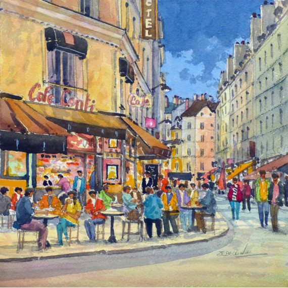 Le Café Conti à Paris
