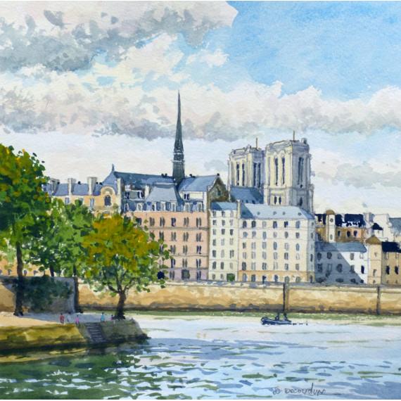 Notre-Dame de Paris et la Seine