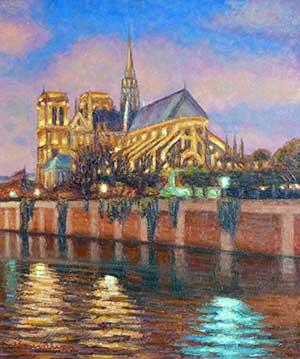 CLAUDIO BONANNI - Coucher de soleil sur Notre-Dame